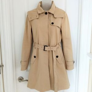 Soia & Kyo Belted Trench Coat with Hood Size XS